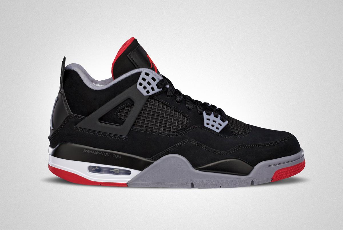 """AIR JORDAN IV """"BRED' - OFFICIAL PICTURES Jordan 3 Bred"""