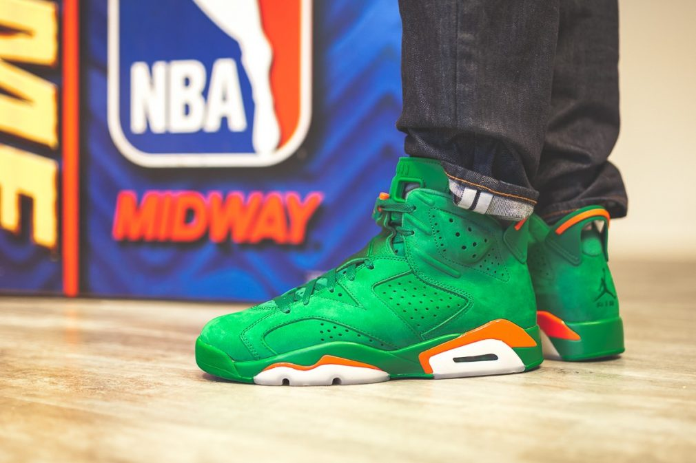 Air Jordan 6 Pine Green Gatorade