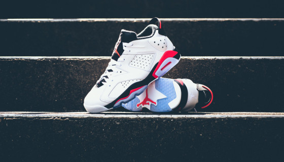 "Air Jordan 6 Retro Low ""White/Infrared 23"""