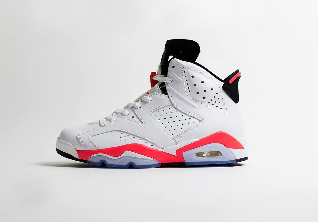 Jordans 6 infrared white