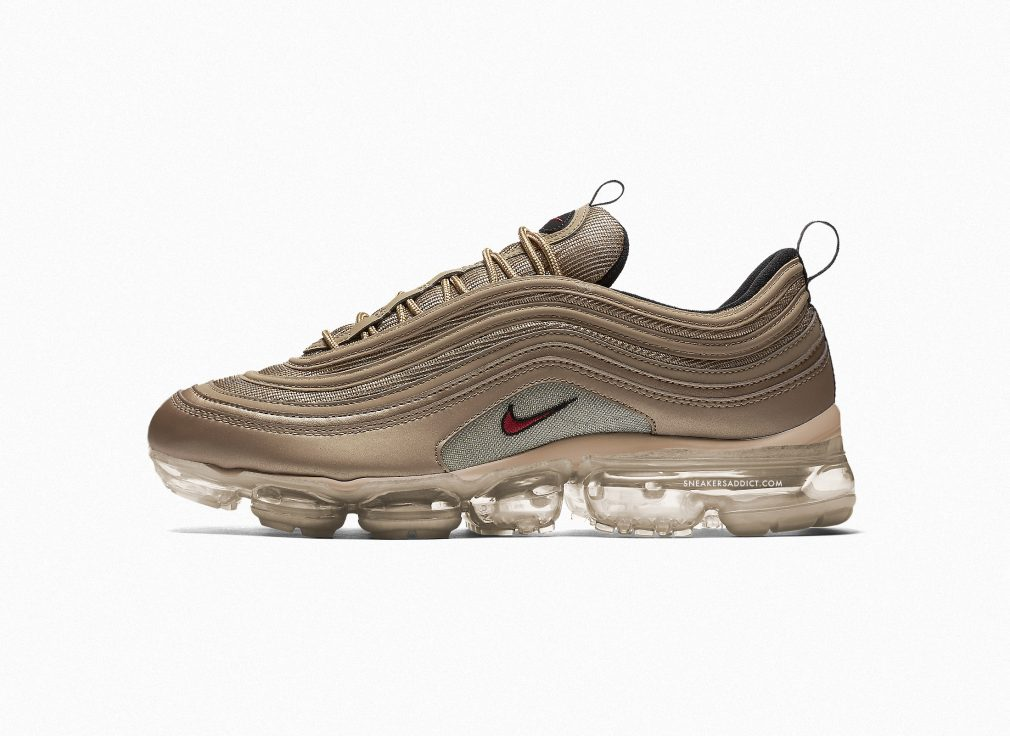 Nike Air Vapormax 97 Gold 2018 render