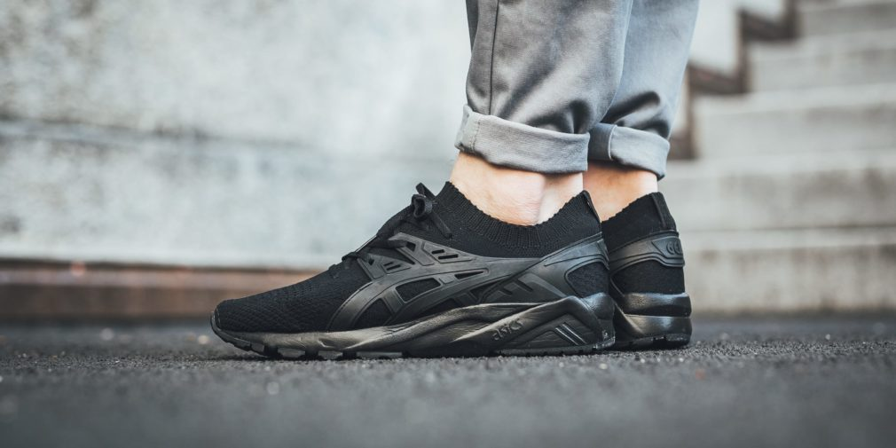 asics kayano trainer knit noir