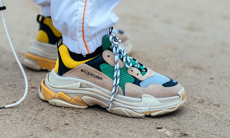 Sneaker Triple S VERT BLANC pour Homme | Balenciaga