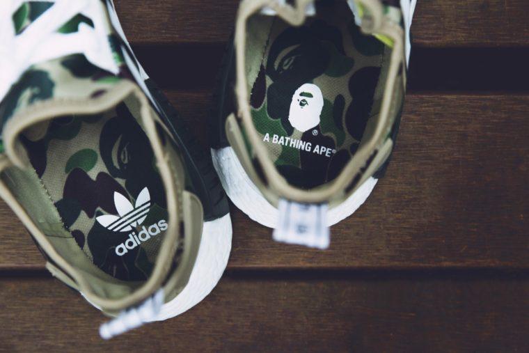 adidas Originals Men's Size 10 NMD R1 Bape Runners Green