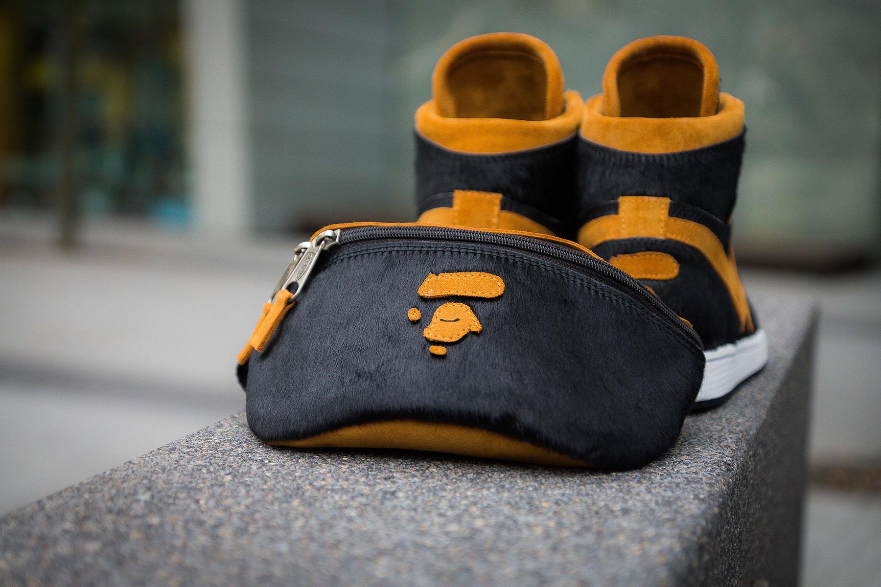A Bathing Ape Black BAPE x Air Jordan 1 by...