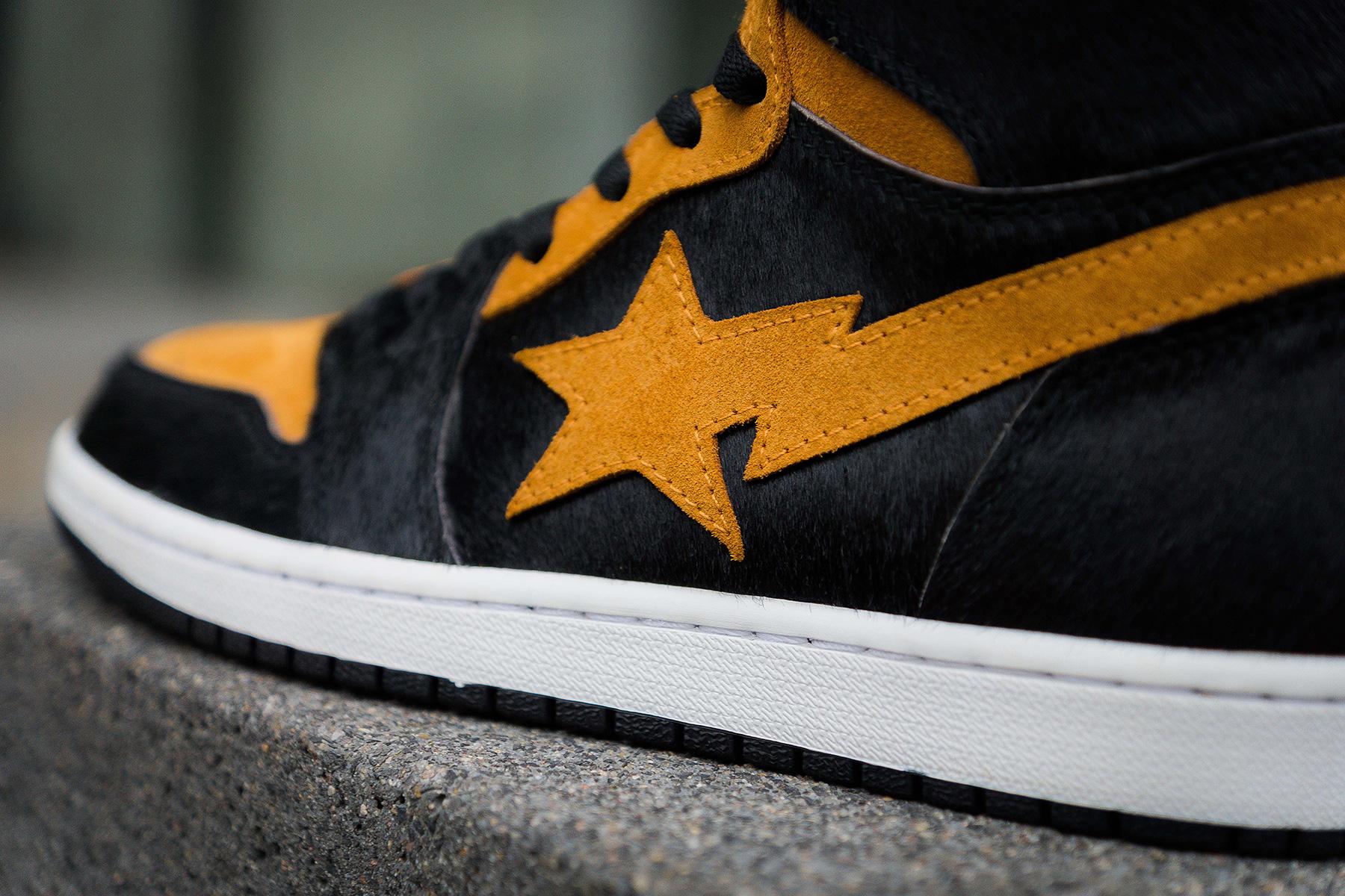 Bape X Air Jordan 1 By Panda Custom Sneakers Addict