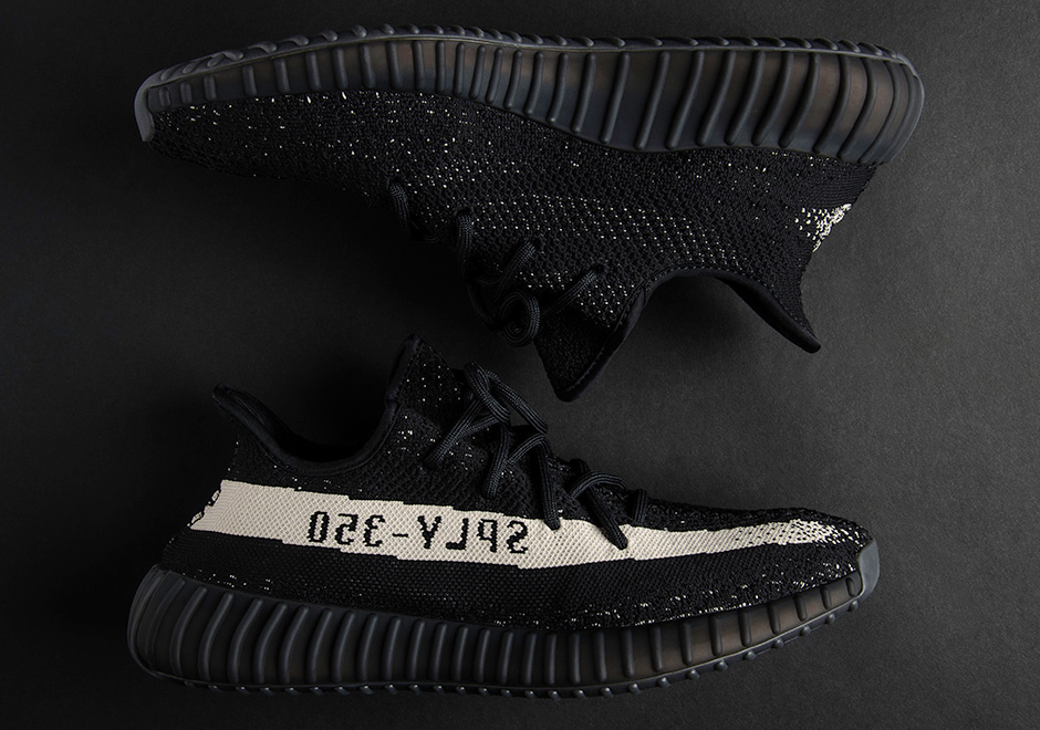 by1604 adidas yeezy boost 350 v2 black white