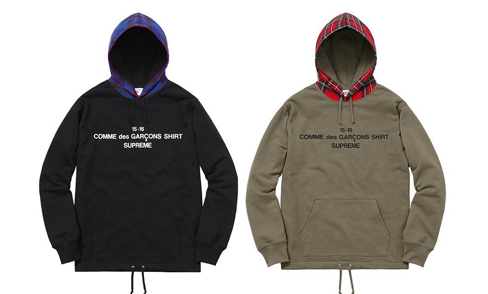 Comme des Garçons SHIRT®/Supreme 2015 hoodies