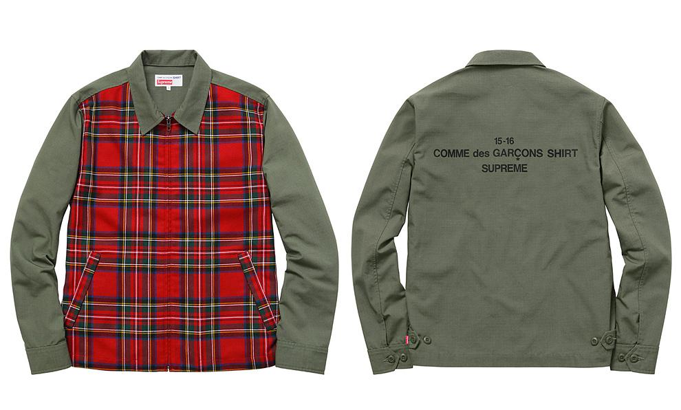 Comme des Garçons SHIRT®/Supreme 2015 olive-jacket
