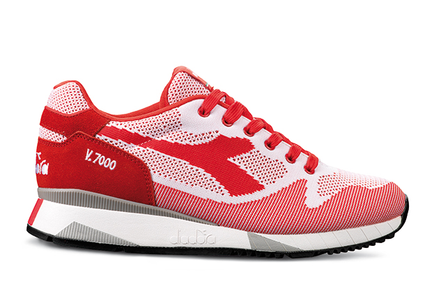 Diadora V7000 Weave Red White 01