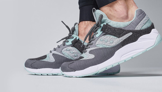 END Clothing x Saucony Grid 9000 – White Noise