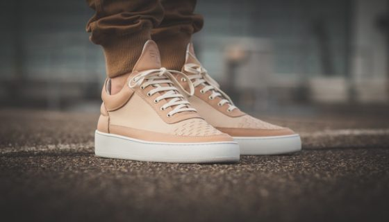 Filling Pieces Low Top Woven Front Beige
