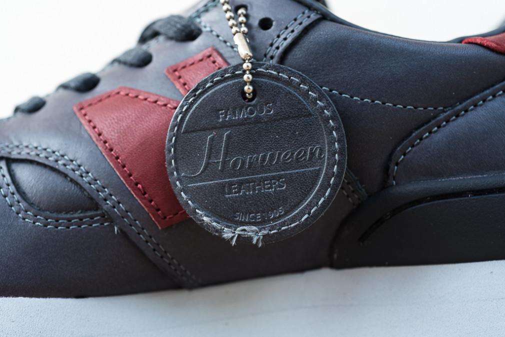 "Horween x New Balance 990 ""Grey & Burgundy"""