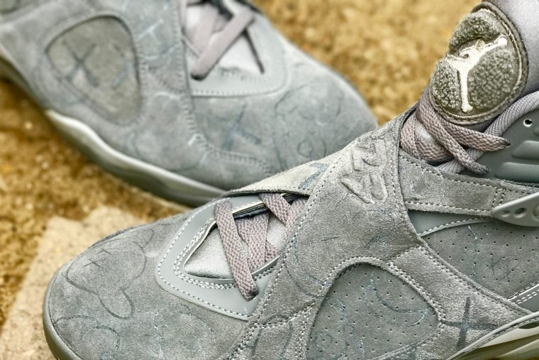 Kaws x Air Jordan 8 Cool Grey Custom