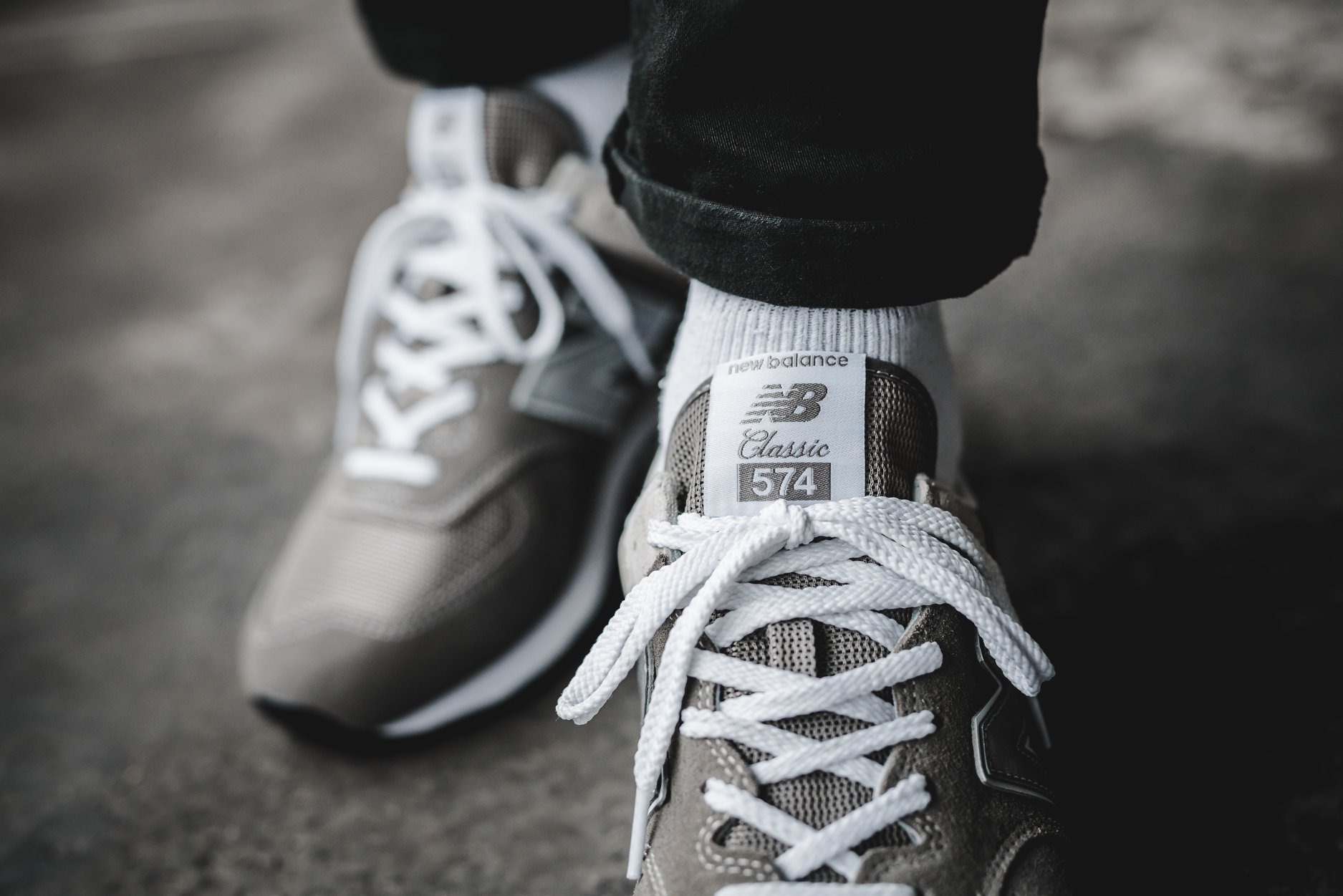 New Balance 574 Grey Day Tongue