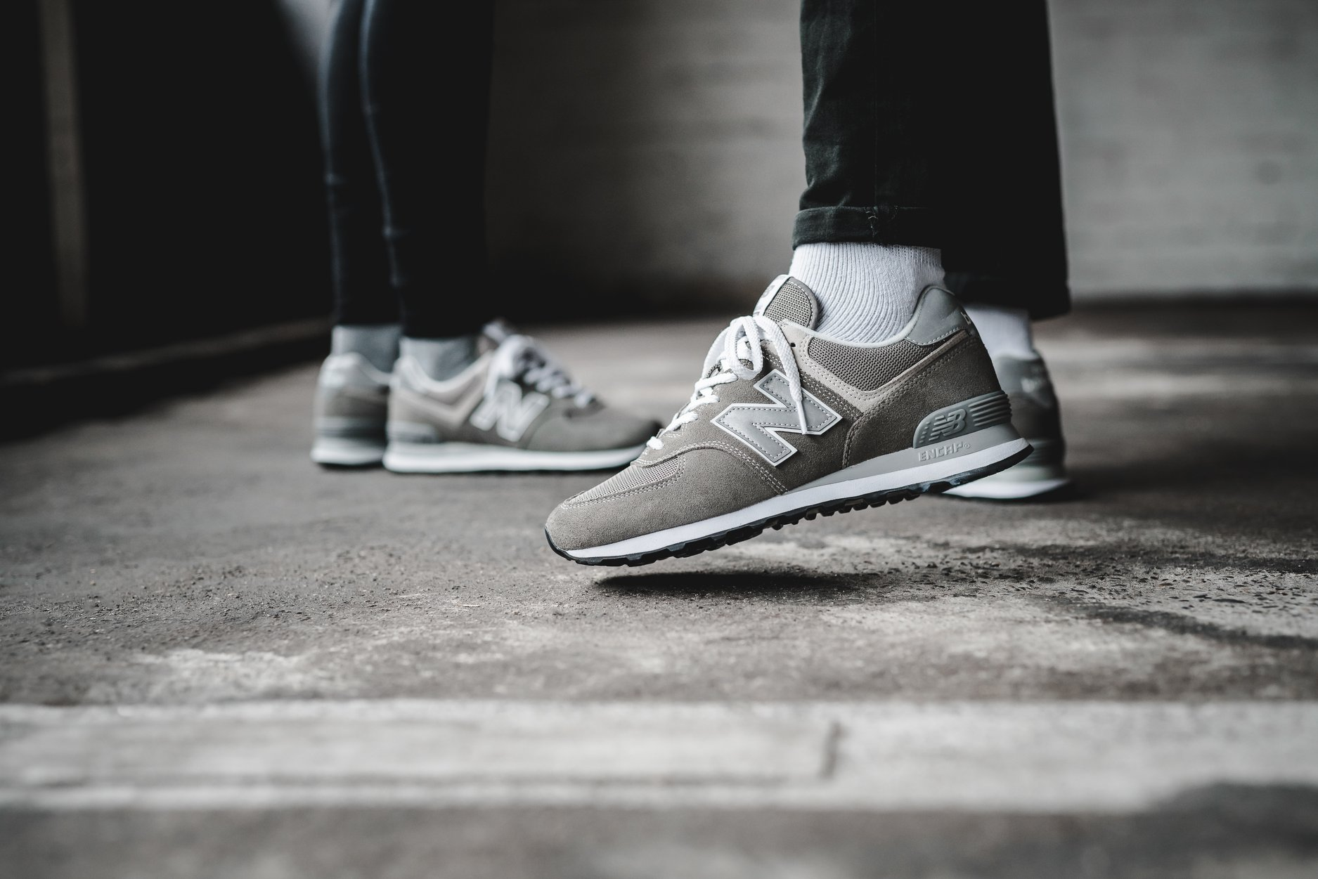 New Balance 574 Grey Day Both