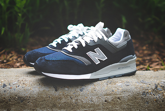new balance m997 navy white sneakers addict. Black Bedroom Furniture Sets. Home Design Ideas
