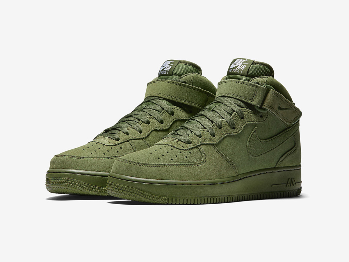 nike air force 1 mid olive sneakers addict. Black Bedroom Furniture Sets. Home Design Ideas