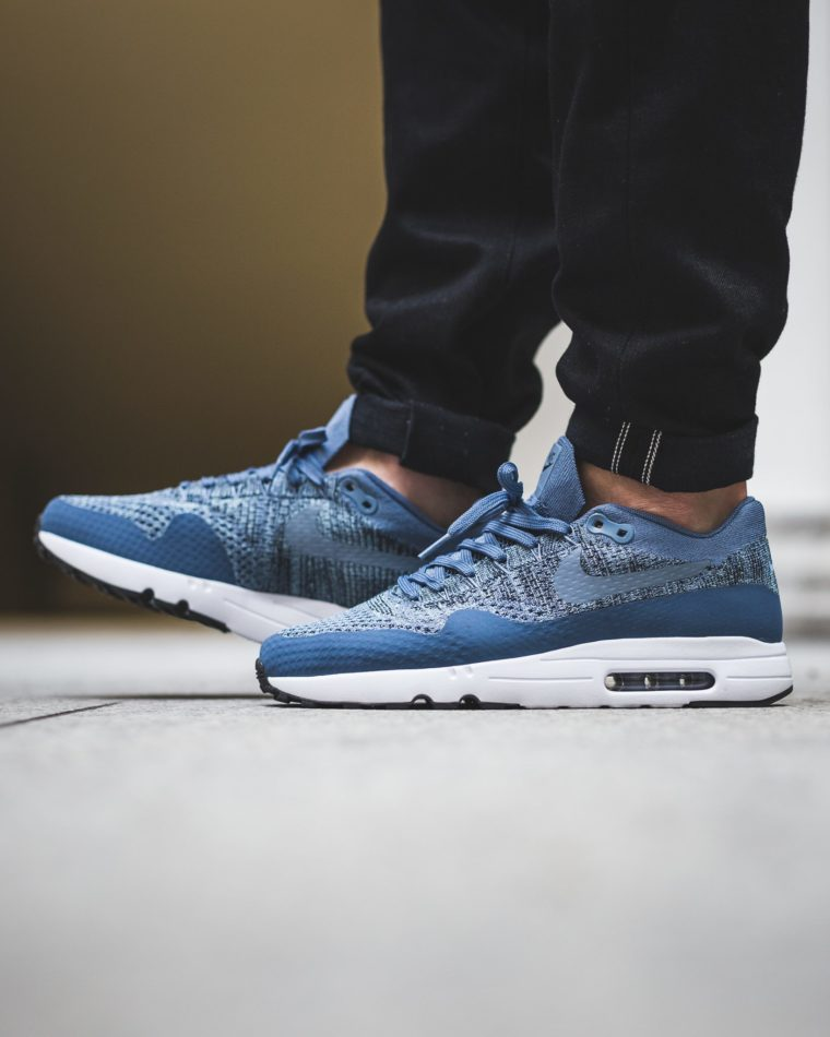 nike air max 1 ultra flyknit ocean fog sneakers addict. Black Bedroom Furniture Sets. Home Design Ideas