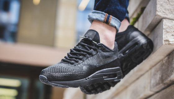 Nike Air Max 1 Ultra Flyknit Triple Black Release Date