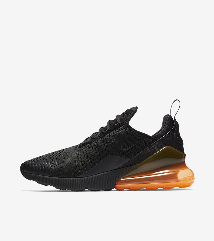 sports shoes 05879 8c076 ... noir total orange vue dessous 9647c bfb2c  promo code for nike air max  270 a74a4 20d69