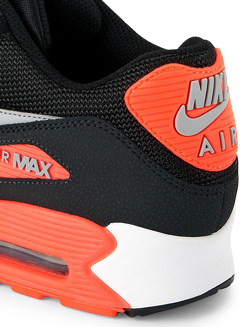 nike air max 90 essential black infrared