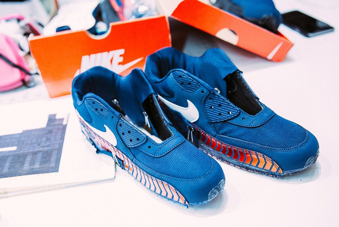 nike air max 90 psg custom by red ribbon recon sneakers. Black Bedroom Furniture Sets. Home Design Ideas