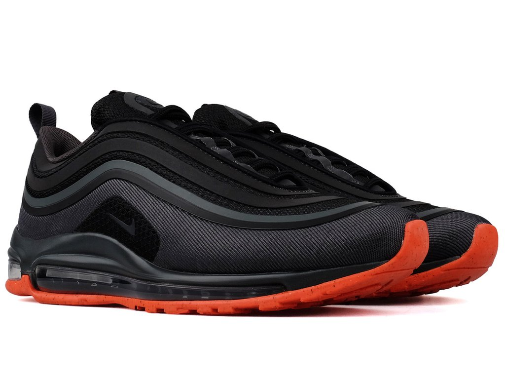 Nike Air Max 97 Ultra Black Anthracite Orange Wave