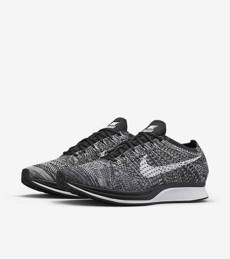 nike flyknit racer oreo release date sneakers addict. Black Bedroom Furniture Sets. Home Design Ideas