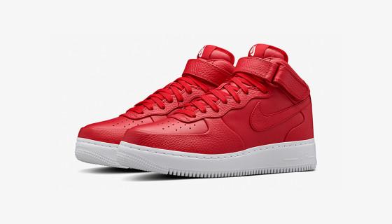 "NikeLab Air Force 1 Mid ""Gym Red"""