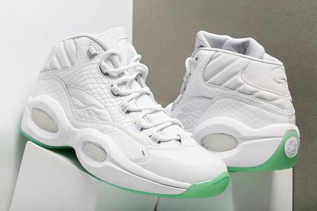 Reebok Question Mid White and Mint