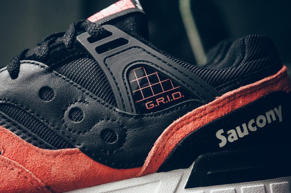 Saucony Grid SD - Black/Salmon