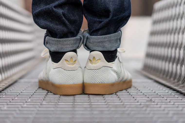 los angeles 3910e 31a80 ... Sneaker Politics x Adidas Gazelle Primeknit Mardi Gras
