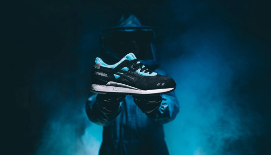 Solebox x asics Gel Lyte III Blue Carpenter Bee