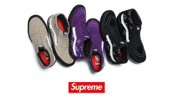 Supreme x Vans Sk8-Mid collection 2015