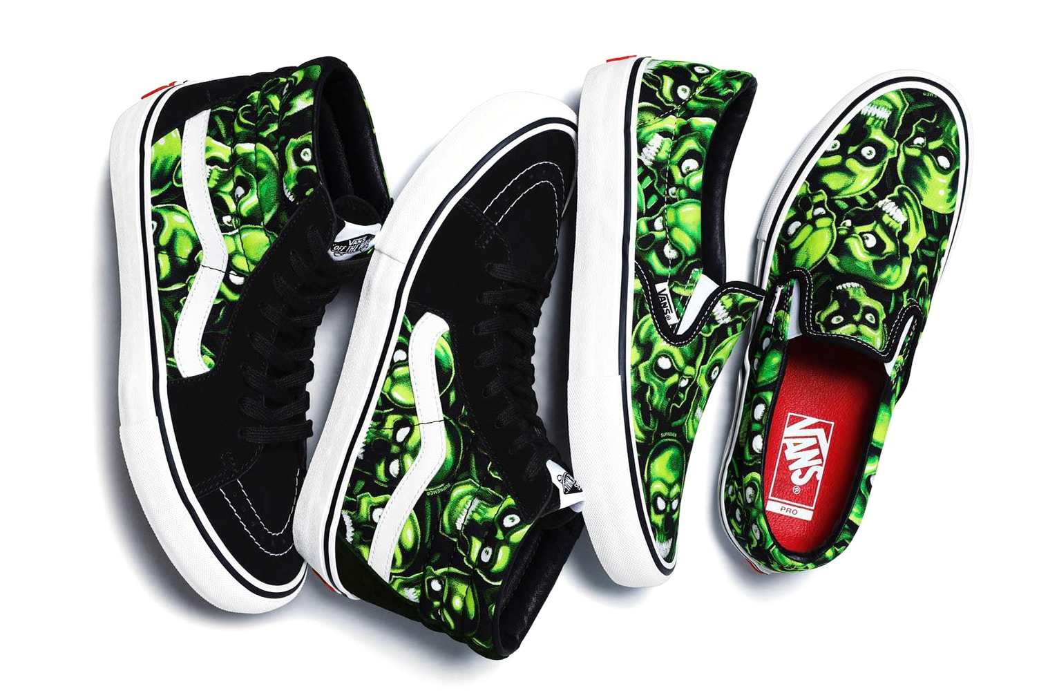 Supreme x Vans Skull Print Collaboration