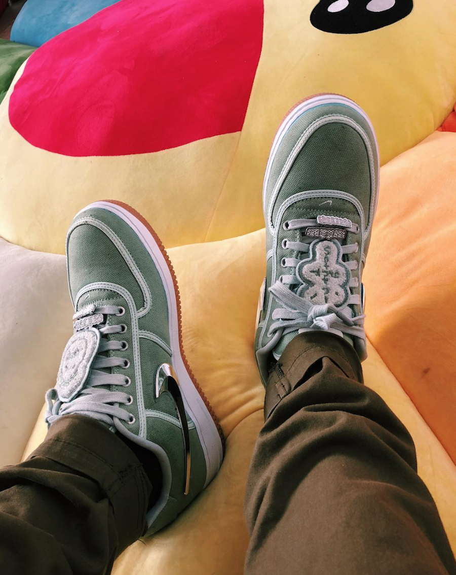 Travis Scott x Nike Air Force 1 Low Cactus Green