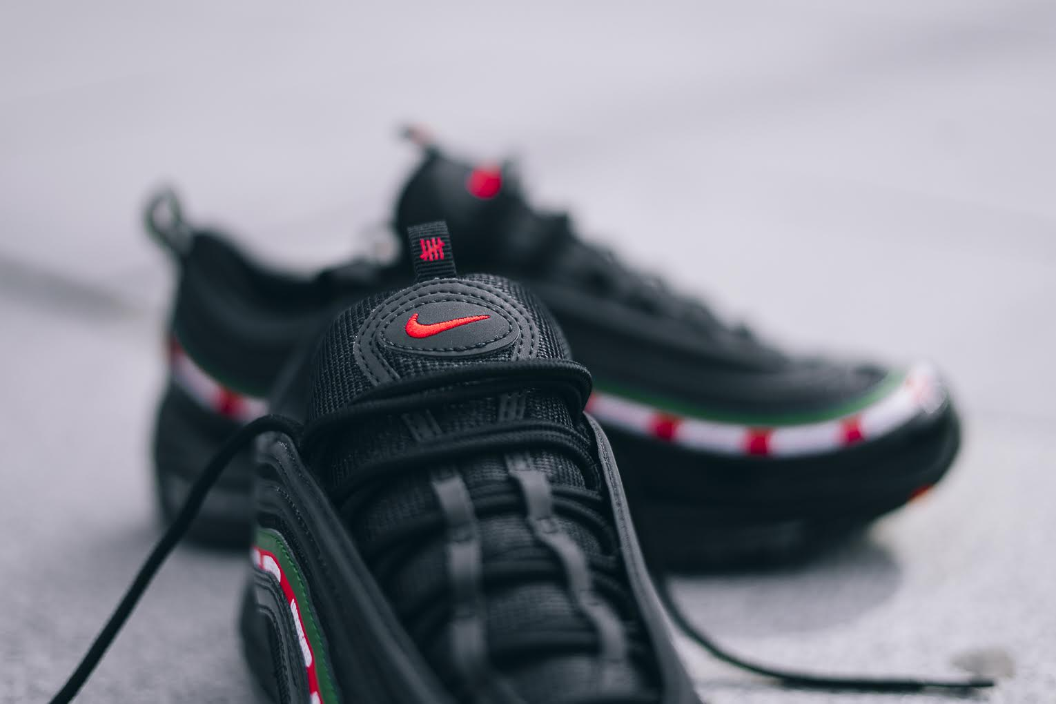 Undefeated X Nike Air Max 97 Black On Feet Pictures Wave
