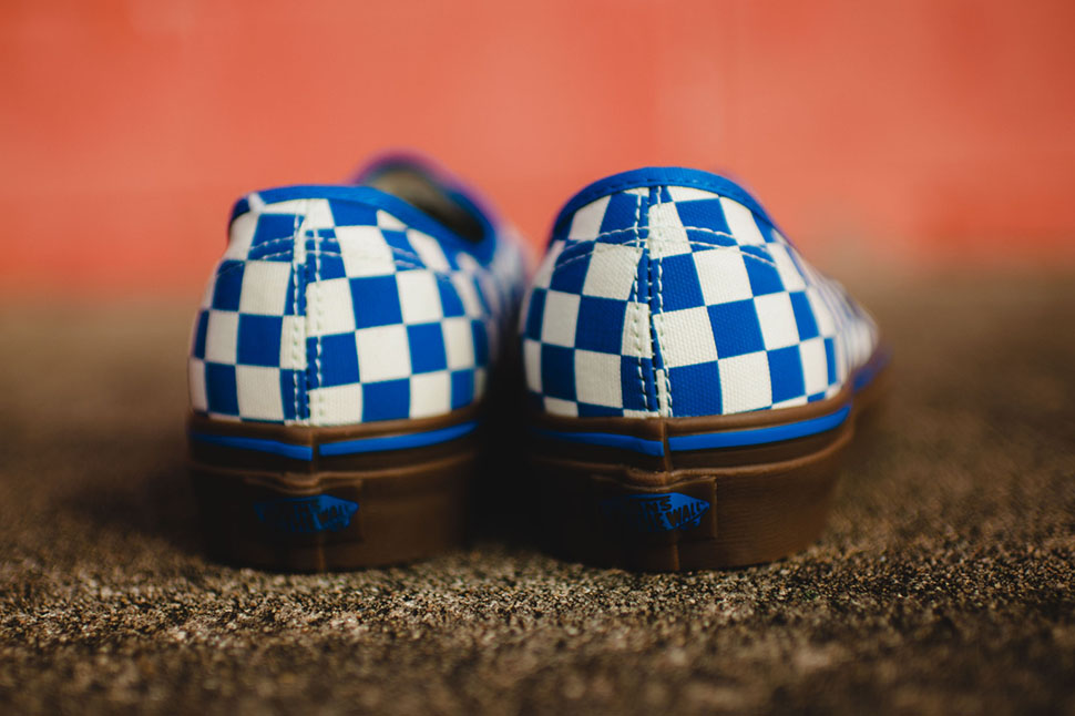 "Vans Authentic ""Checkerboard"" (Blue & Gum)"