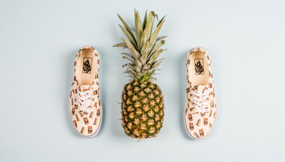 Vans Authentic Drained and Confused 'Pineapple White'