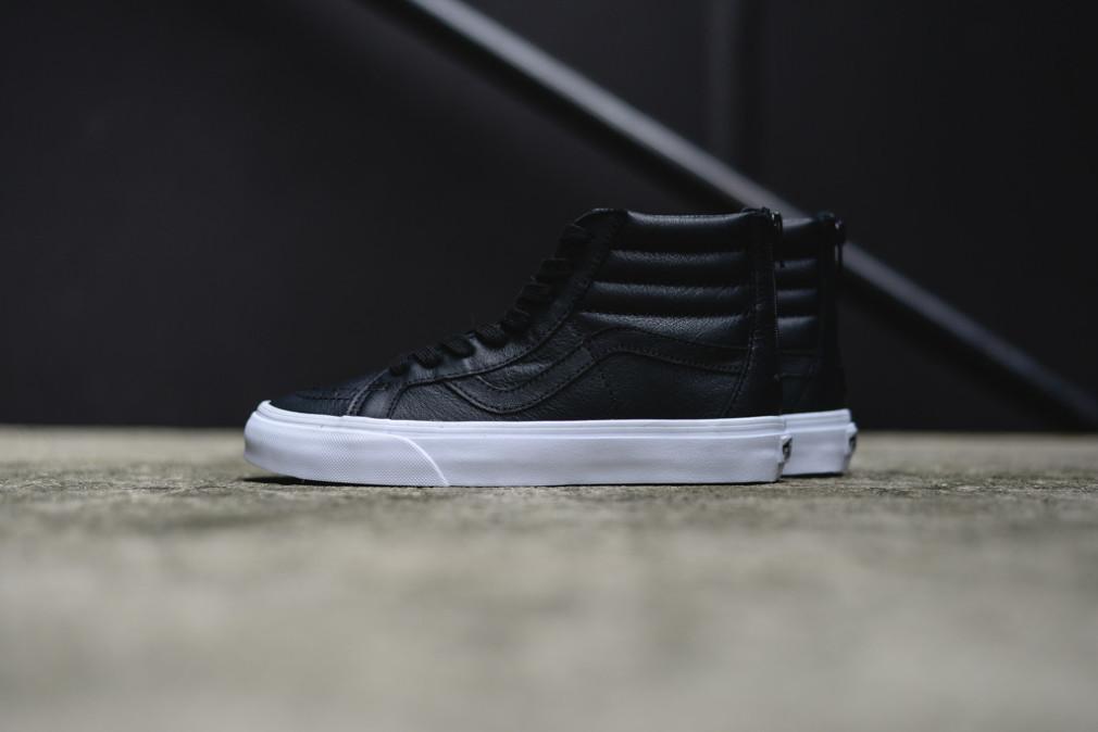 """Vans SK8-Hi Reissue Premium Leather """"Black/White"""""""