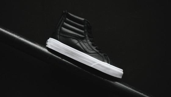 """Vans SK8-Hi Premium Leather Zip """"Black/White"""""""