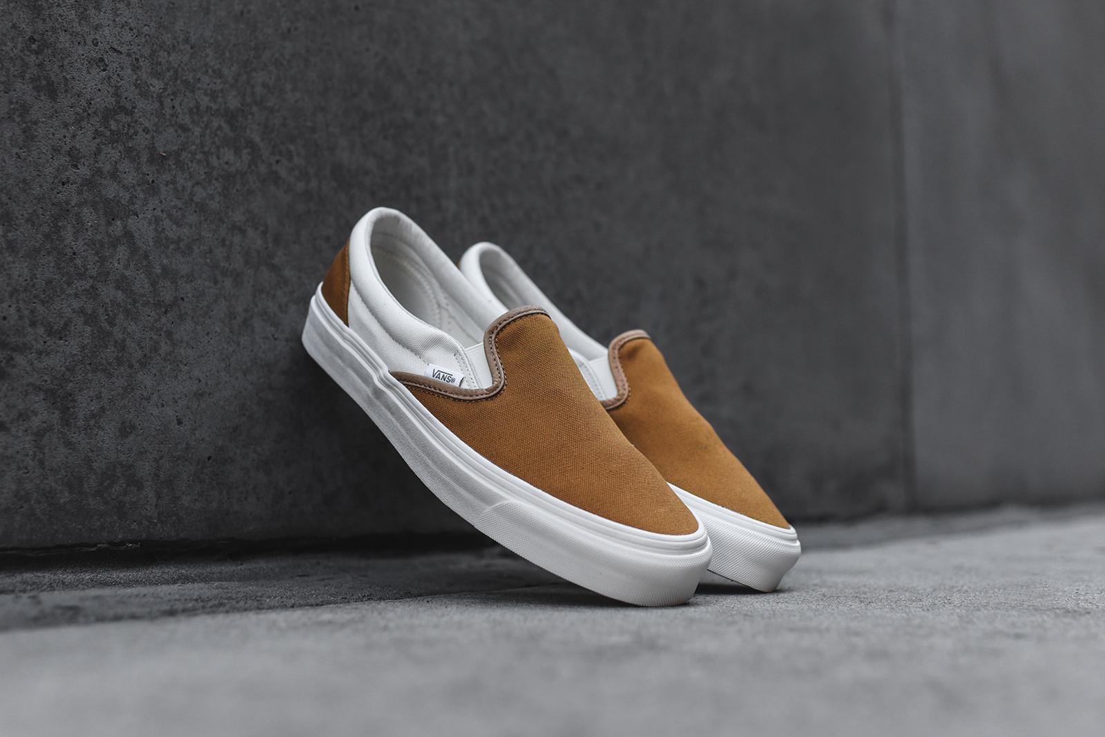 Vans Slip On Lx Golden Brown Sneakers Addict